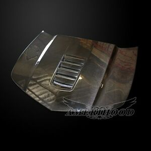 2014 2015 Chevy Camaro Ss8 Style Carbon Fiber Functional Heat Extractor Hood