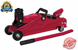 Car Floor Jack 2 Ton Hydraulic Steel Easy Transport Tool Automotive And Supports