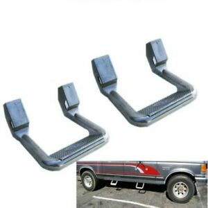 2pcs Universal Fit For Truck suv pickup Silver Aluminum Side Step Nerf Bars