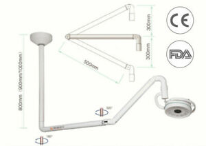 Dental 36w Ceiling Mounted Led Shadowless Lamp Surgical Medical Exam Light 800mm
