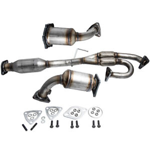 Exhaust Manifold Catalytic Converter Set Of 3 For Nissan Murano 3 5l 2003 2007