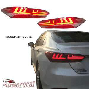 New Red Led Taillight Assemblies Led Rear Lamps A Pair For Toyota Camry 2018