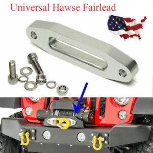 1pcs Universal Aluminum Hawse Fairlead For Synthetic Winch Rope Cable Lead Guide