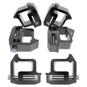 6pcs Truck Rack Shell Clamps Powder Coated Mounting Clamps For Truck Caps
