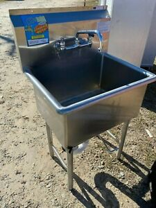 Load King Stainless Steel 27 25 X 21 5 Heavy Duty 1 Compartment Kitchen Sink