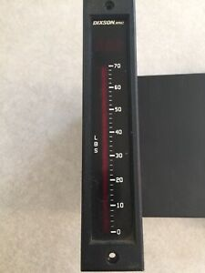 Dixson Bar Graph Meter Be101 0 70 Lbs 10vdc