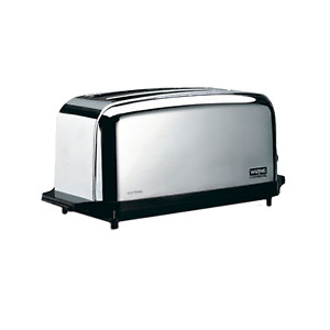 Waring Wct704 Commercial Toaster 2 Wide Slots Extra Long 4 Slice Capacity
