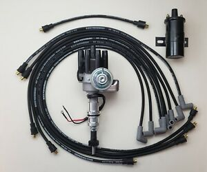 Chevy 350 Small Black Female Hei Distributor 8 5mm Wires Under Exhaust Coil