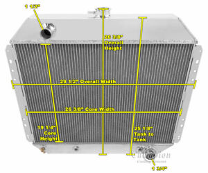 3 Row Queen Champion Radiator For 1968 1979 Ford F series Chevy Conversion