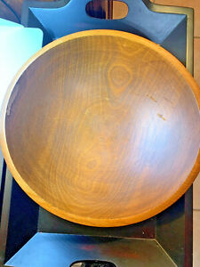 Large Wooden Bread Bowl 13 In Diameter 4 1 2 Tall