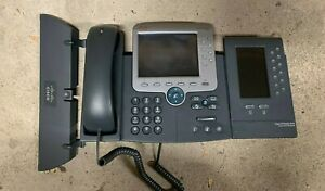Cisco Ip Phone 7975 Voip Business Office Tel And 7916 Expansion Module Lot Of 14