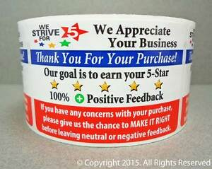 1000 Thank You For Your Purchase Order Shipping Labels Stickers Roll 250 Or 500
