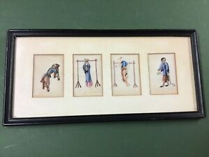 Antique 19th Century Chinese Paintings On Silk