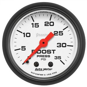 Autometer 5704 Phantom Mechanical Boost Gauge