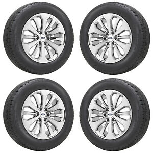 20 Ford F150 Truck Bright Pvd Chrome Wheels Rims Tires Factory Oem Set 10006