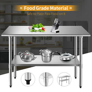 Commercial 24 x 48 Work Table Food Prep Stainless Steel Kitchen Restaurant
