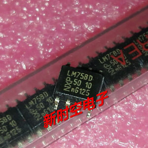 5pcs Lm75bd Sop 8 Digital Temperature Sensor And Thermal Watchdog