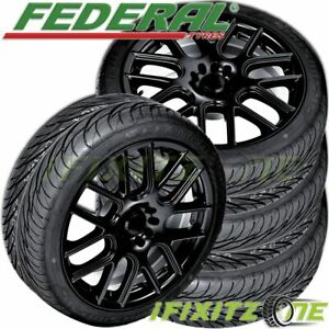 4 New Federal Ss 595 225 50zr17 Bsw All Season Uhp High Performance Tires