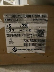Franklin Electric 5hp 1ph 230v Submersible Motor