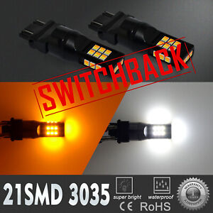 Led Switchback Front Turn Signal Light Bulb For 1999 2010 Jeep Grand Cherokee 2x
