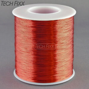 Magnet Wire 32 Gauge Awg Enameled Copper 4275 Feet Coil Winding 155c Red