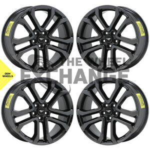 20 Ford Mustang Gt Black Chrome Wheels Rims Factory Oem 2018 2019 Set 4 10167