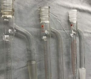 Glassware Lab Glass Lot Of 3 Barrett Receivers