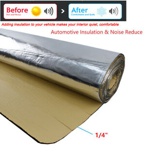 Car Insulation Thermal Sound Deadener Blocking Heat Noise Proofing Mat 24 X39
