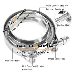 Universal 3 0 Stainless Steel V Band Clamp Flange For Turbo Exhaust Downpipe