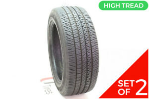 Set Of 2 Used 245 55r18 Goodyear Eagle Rs A 103v 9 32