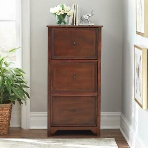 Wooden File Cabinet Home Office 3 Drawer Storage Organizer Home Office Filing