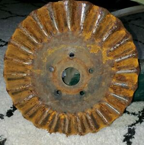 15 1 2 Jd Tractor Disc Wavy Coulter Disc Blade Metal Art Rusty Decor