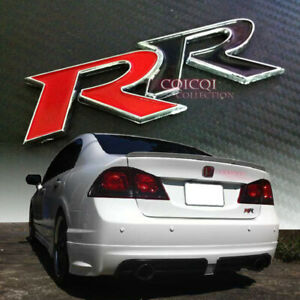 Rr Rear Trunk Emblem Sticker For Honda Civic Sedan Coupe Jdm