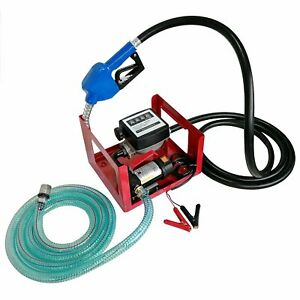 12v Dc 155w Electric Fuel Transfer Oil Pump With Automatic Nozzle