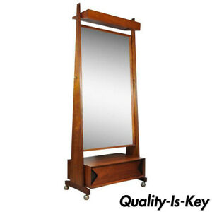 Marc Berge Grosfeld House Walnut Mid Century Danish Modern Cheval Tall Mirror