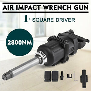 2070 Ft lbs 1 Air Impact Wrench Gun Long Shank Commercial Truck W 2 Sockets