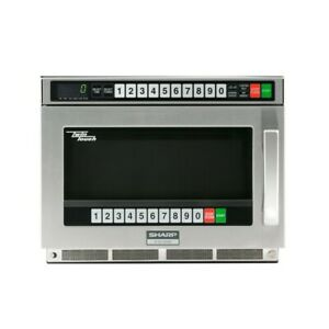 Sharp R cd1800m Twintouch Commercial Microwave Oven 1800 Watts