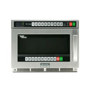 Sharp R cd1200m Twintouch Commercial Microwave Oven 1200 Watts