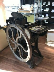 Antique Letterpress Printing Press 1885 chandler And Price