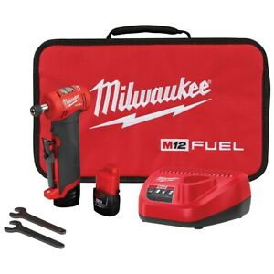 Milwaukee M12 Fuel Right Angle Die Grinder 2 Battery Kit Mlw2485 22 Brand New
