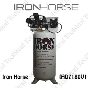 Iron Horse Ihd7180v1 7 hp 80 gallon Single Stage Air Compressor Single Phase