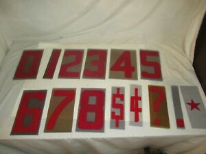 Plastic Flexible Outdoor Sign Numbers 0 9 Business Marquee Lot Of 74 Preowned
