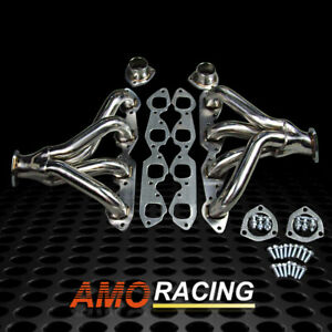 Stainless Steel Block Hugger Exhaust Headers Fit Bbc Big Block Chevy 396 427 454