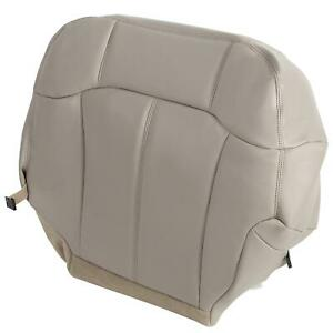 For 1999 2002 Chevy Tahoe Suburban Driver Bottom Leathr Seat Cover Tan 522 Fits Tahoe