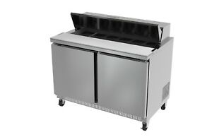 Ultra Cool 2 Doors 48 Sandwich Prep Table Cooler All Stainless 2 3 Yrs Warranty