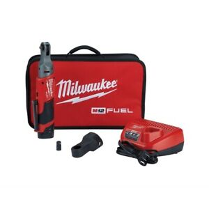 Milwaukee M12 Fuel 1 4 In Cordless Ratchet Auto W 1 Battery Kit Mlw2556 21