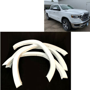 2019 2020 Dodge Ram 1500 Wheel Fender Flare Protection Painted White Oe Style