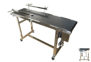 Techtongda 15 7 Pvc Conveyor With Double Guardrail 110v 120w Stainless Steel