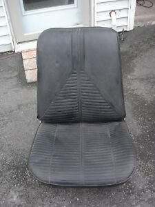 1967 Only Gm Rh Bucket Seat Chevelle Gto Cutlass Skylark Gs 442 Black Oem