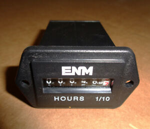Enm Analog Hour Meter 10 80v Dc Used 46 Hours Scrubbers Machines